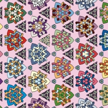 Muster aus bunten Schilden