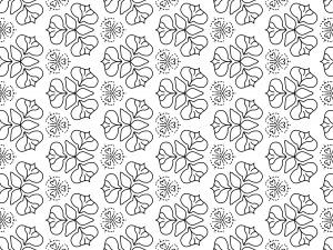 Blumenmuster in dreier Formation