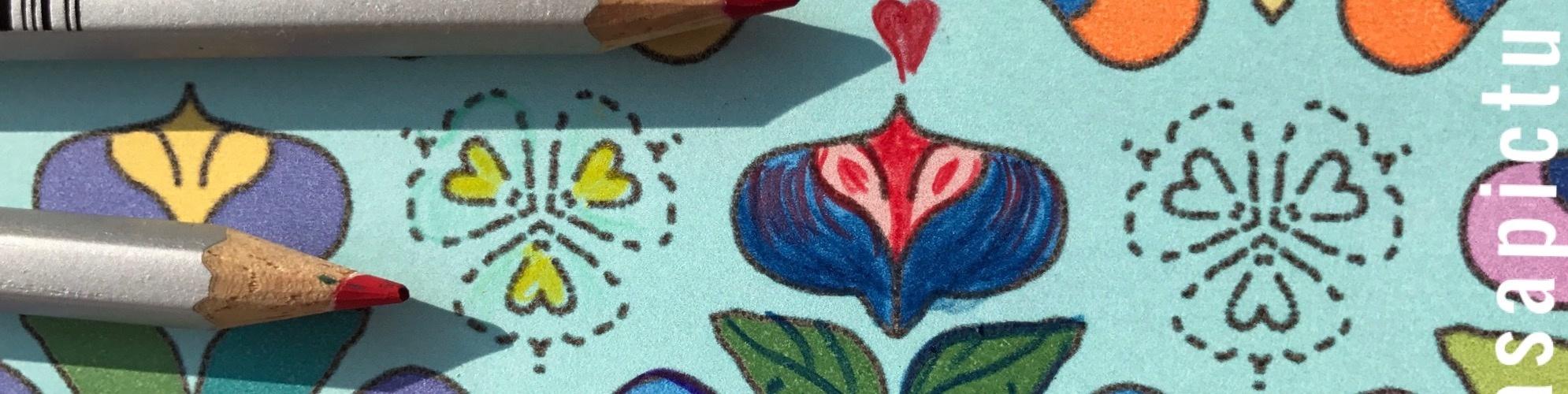 Bild mit Farbstiften bemalen