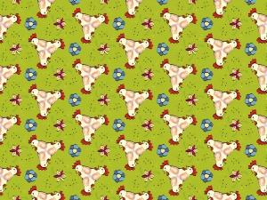Hahnenköpfe im Trio farbig coloriert