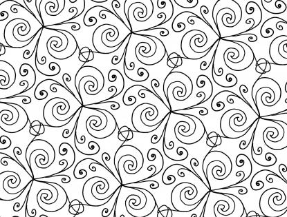 Ausmalmuster mit Spiralen