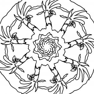 Palmenmandala