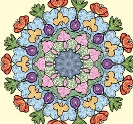 Mandala coloriert zum weiter verbasteln.